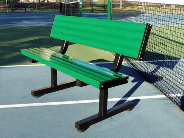 4 39 Courtside Tennis Bench