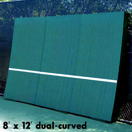 Realistic Dual Curved Tennis Backboard 8 X 12