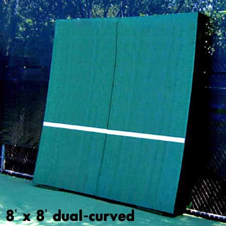 REALlistic Dual-Curved Tennis Backboard   8' X 8'