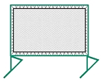 Outdoor Free Standing Tennis Ball Rebounder