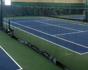 Indoor Tennis Court Divider Netting 10 X 60 W/Vinyl Kick-Plate