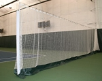 White Indoor Tennis Court Divider Netting 10 X 60 W/Vinyl Kick-Plate