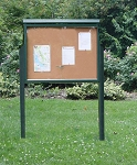 Two Sided Large Message Center w/Posts