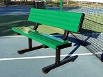 4' Green Aluminum Player's Bench w/Back
