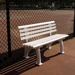 4' Courtside Tennis Bench