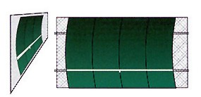 Bakko Single Curved Series Backboard (10 X 20)
