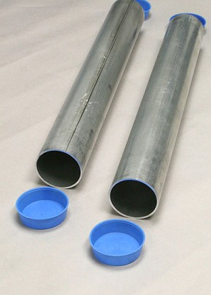 "Douglas Aluminum 24"" Ground Sleeves For 2-7/8"" Round Posts (Pair)"
