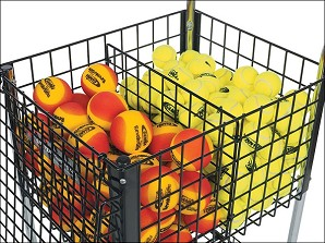 DELUXE 350 BALL TEACHING CART DIVIDER - BLACK W/ 6 TIE WRAPS.