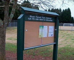Outpost Model 250 Tennis Court Display Board